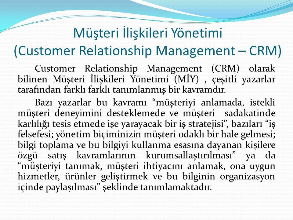 Müşteri İlişkileri Yönetimi (Customer Relationship Management – CRM)