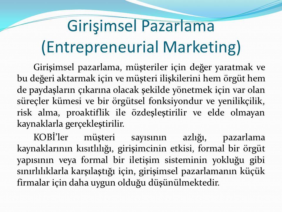 Girişimsel Pazarlama (Entrepreneurial Marketing)