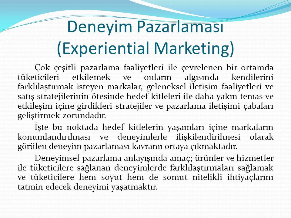 Deneyim Pazarlaması (Experiential Marketing)