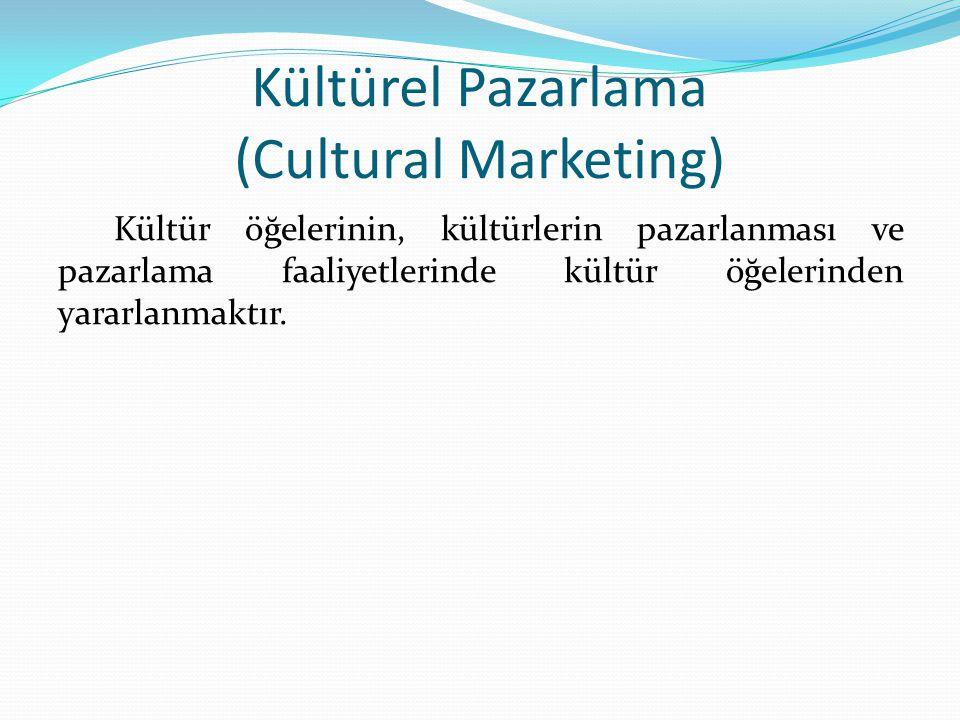 Kültürel Pazarlama (Cultural Marketing)
