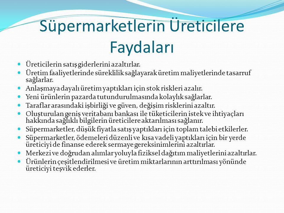 Süpermarketlerin Üreticilere Faydaları