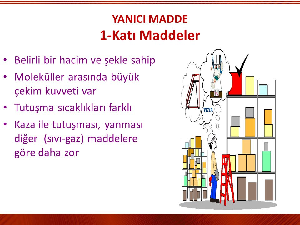 YANICI MADDE 1-Katı Maddeler