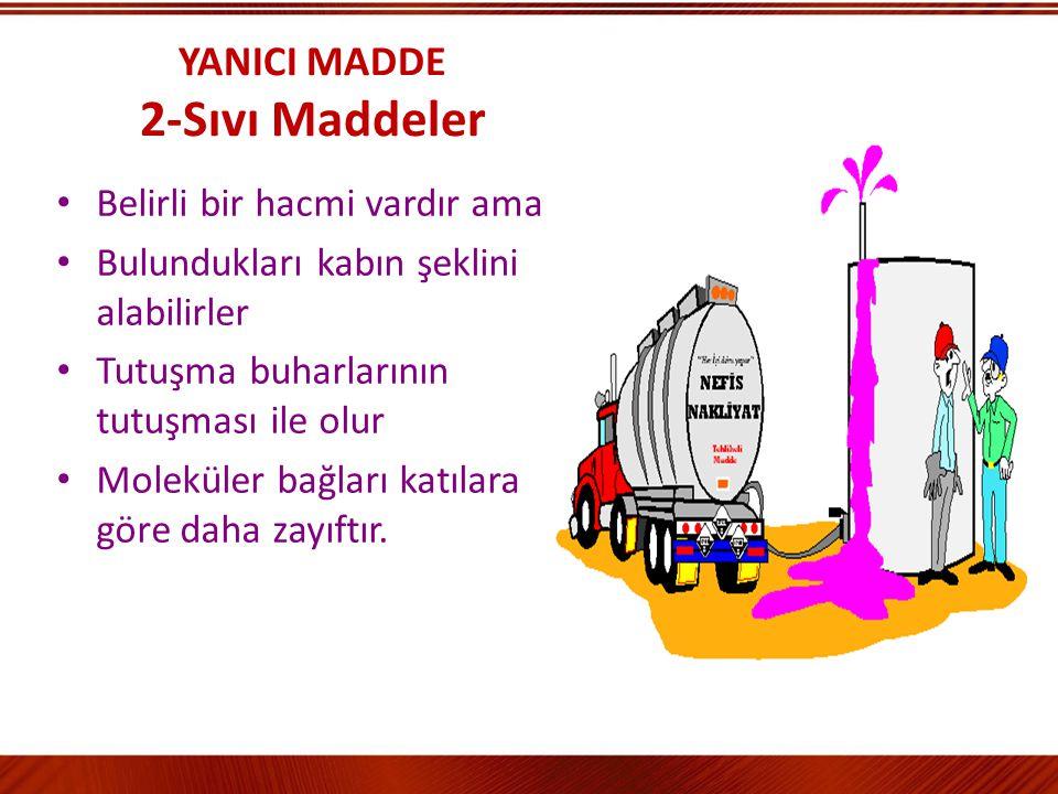 YANICI MADDE 2-Sıvı Maddeler