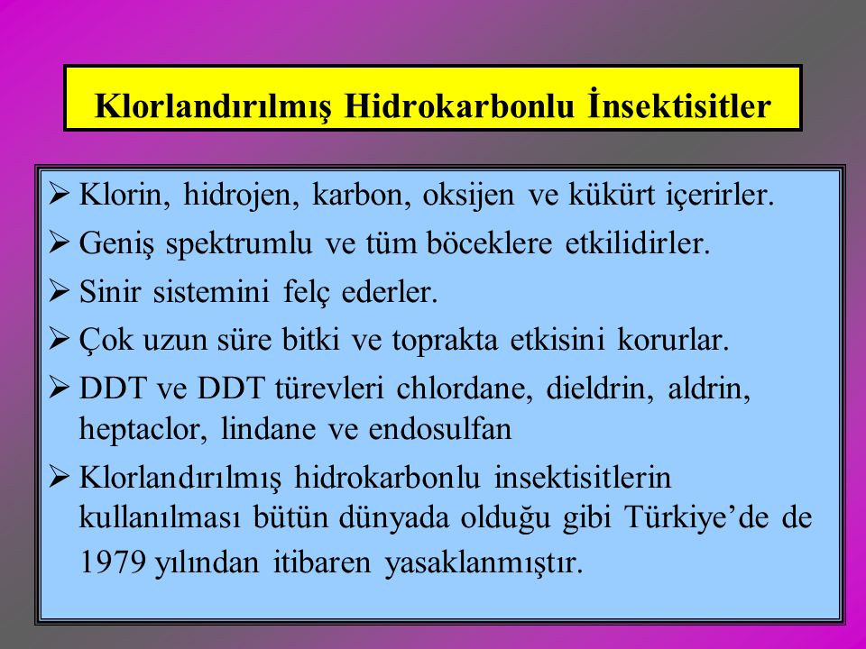 Klorlandırılmış Hidrokarbonlu İnsektisitler