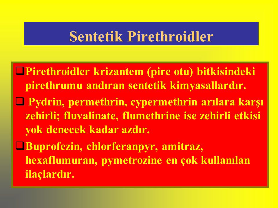 Sentetik Pirethroidler