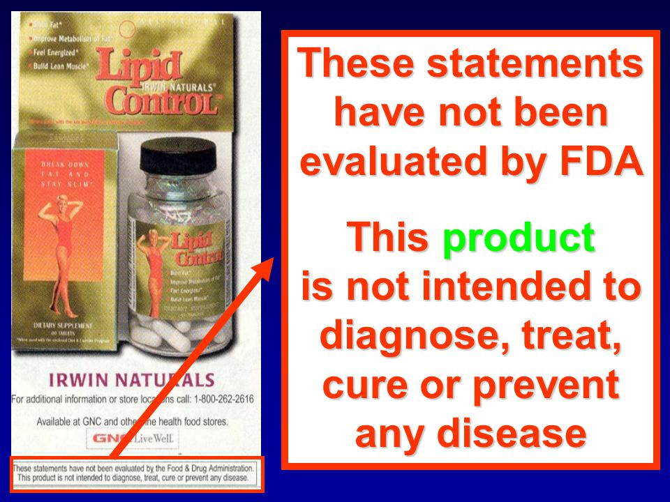 These statements have not been. evaluated by FDA. This product. is not intended to. diagnose, treat,