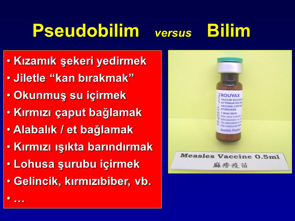 Pseudobilim versus Bilim