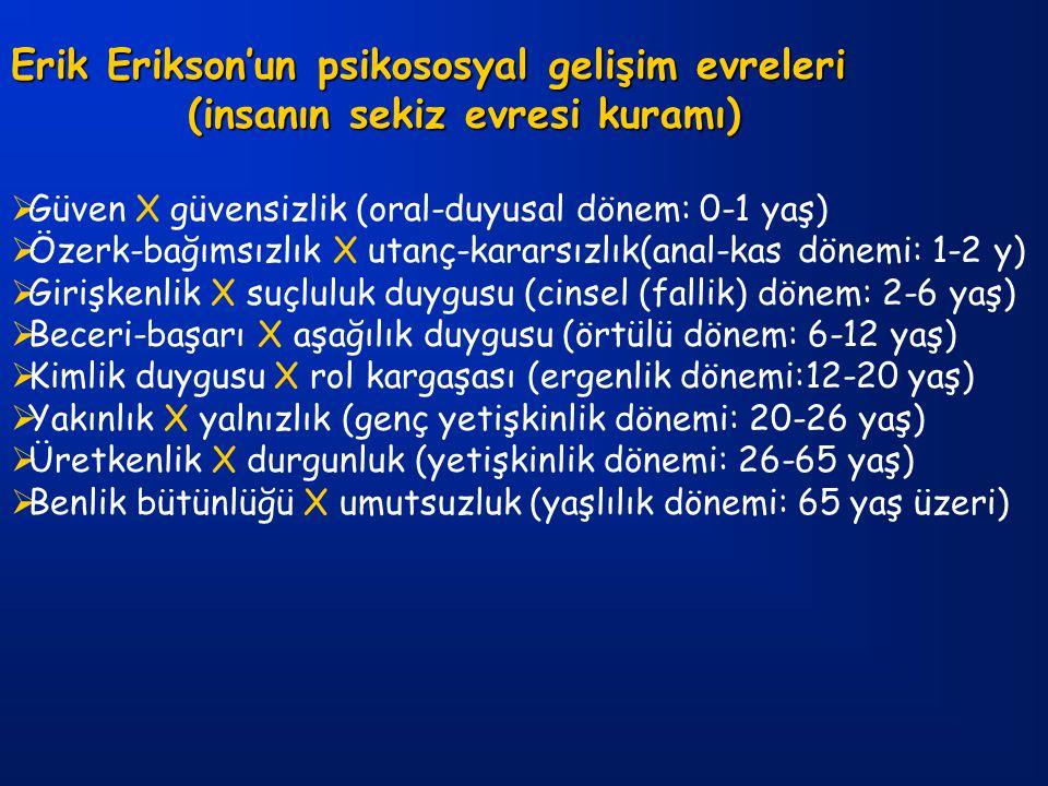 Erik Erikson'un psikososyal gelişim evreleri