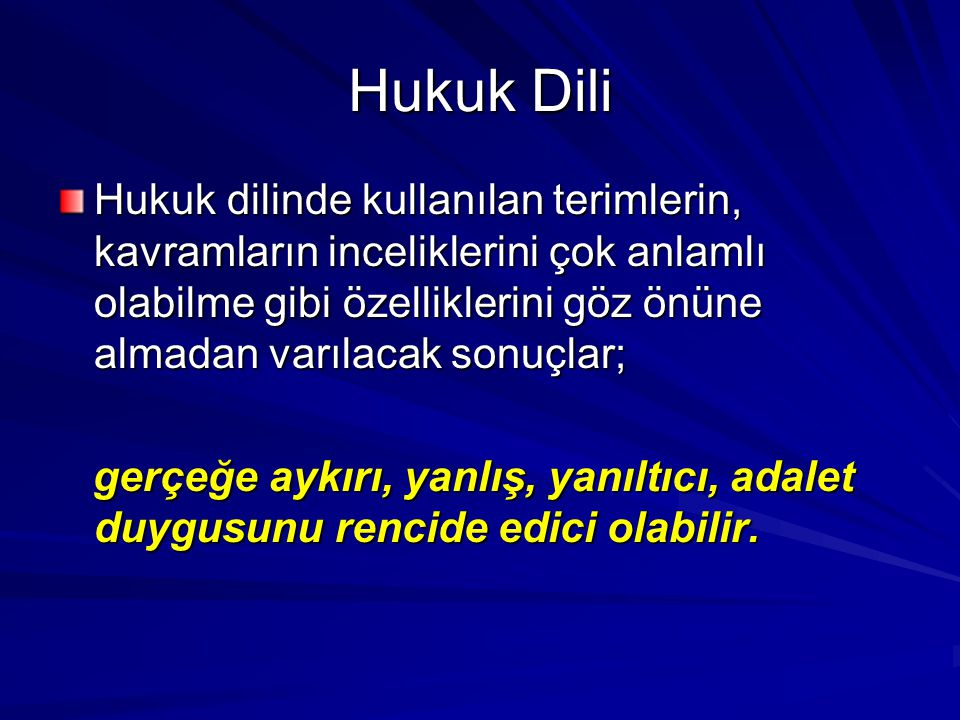 Hukuk Dili