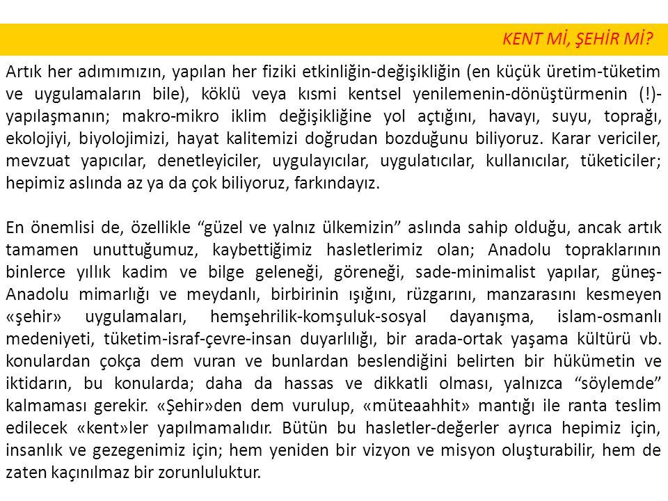 KENT Mİ, ŞEHİR Mİ