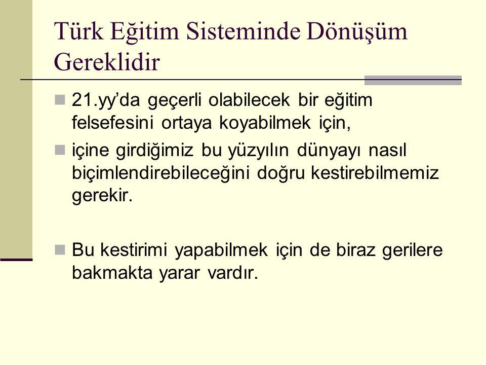 Türk Eğitim Sisteminde Dönüşüm Gereklidir