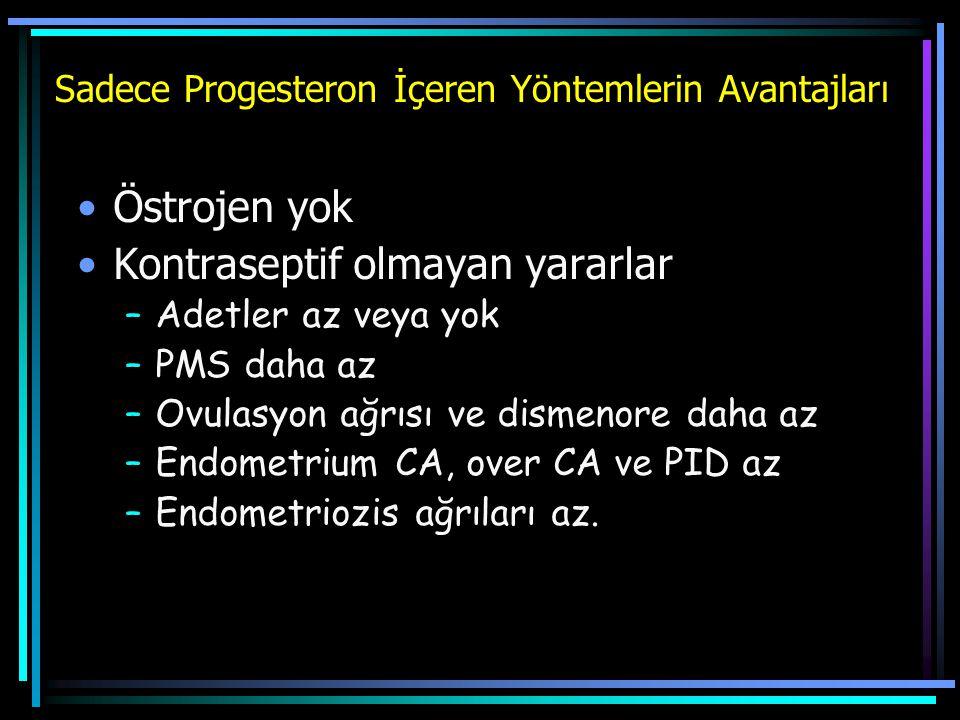 Sadece Progesteron İçeren Yöntemlerin Avantajları