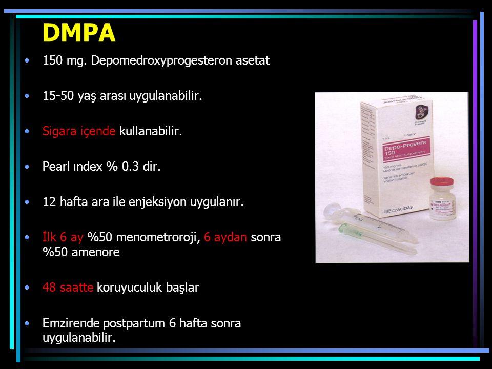 DMPA 150 mg. Depomedroxyprogesteron asetat