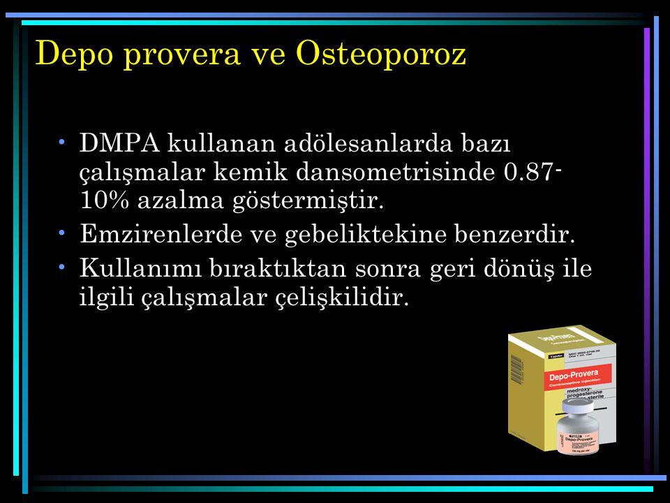 Depo provera ve Osteoporoz