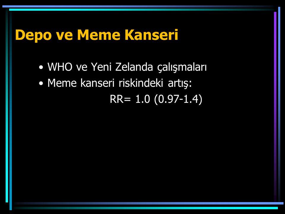 Depo ve Meme Kanseri WHO ve Yeni Zelanda çalışmaları