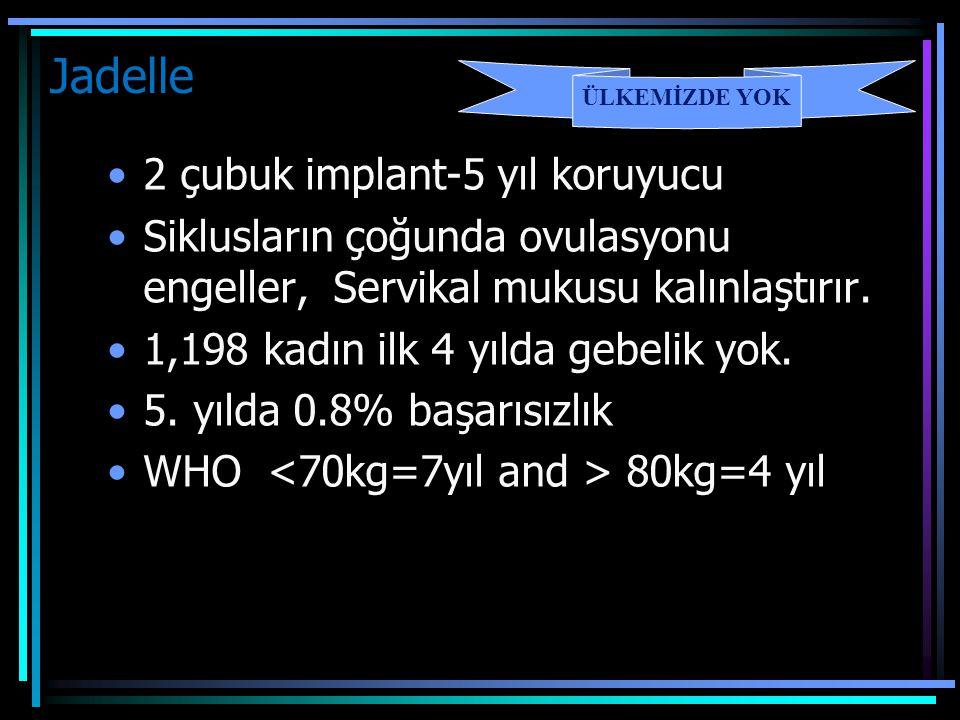 Jadelle 2 çubuk implant-5 yıl koruyucu