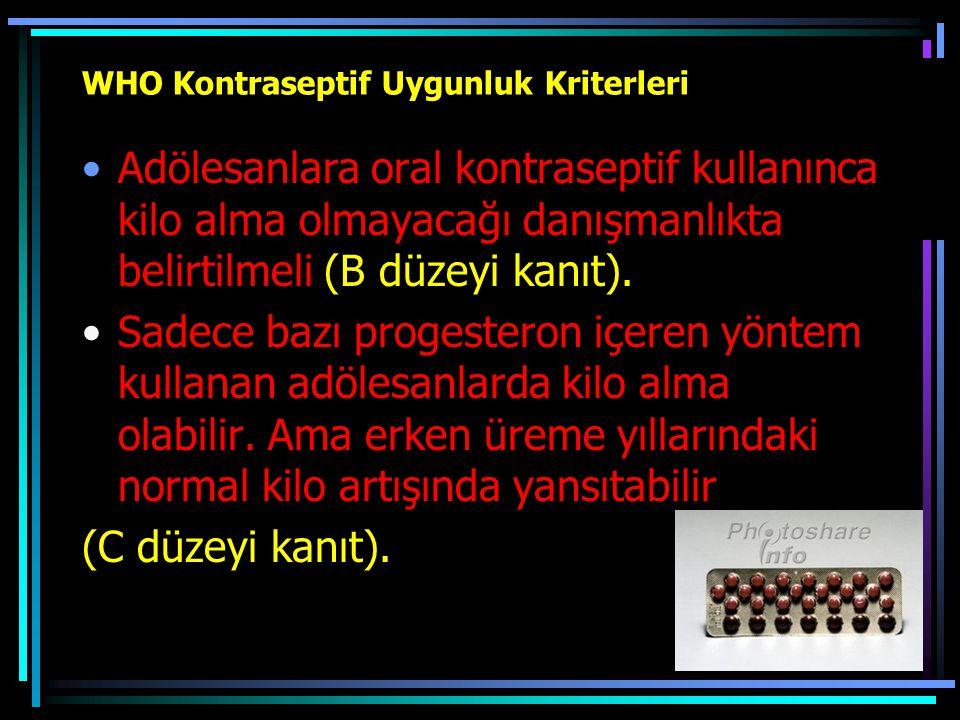 WHO Kontraseptif Uygunluk Kriterleri