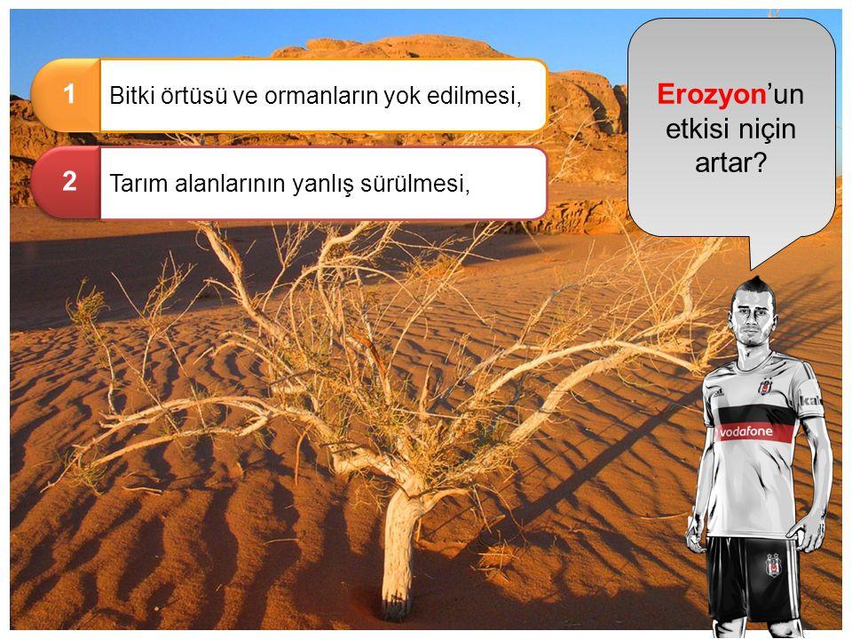 Erozyon'un etkisi niçin artar