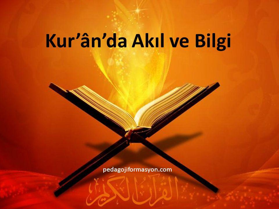 Kur'ân'da Akıl ve Bilgi
