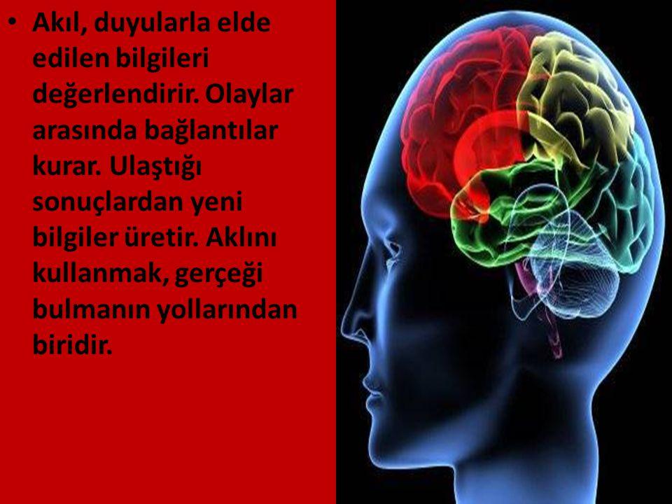 Akıl, duyularla elde edilen bilgileri değerlendirir