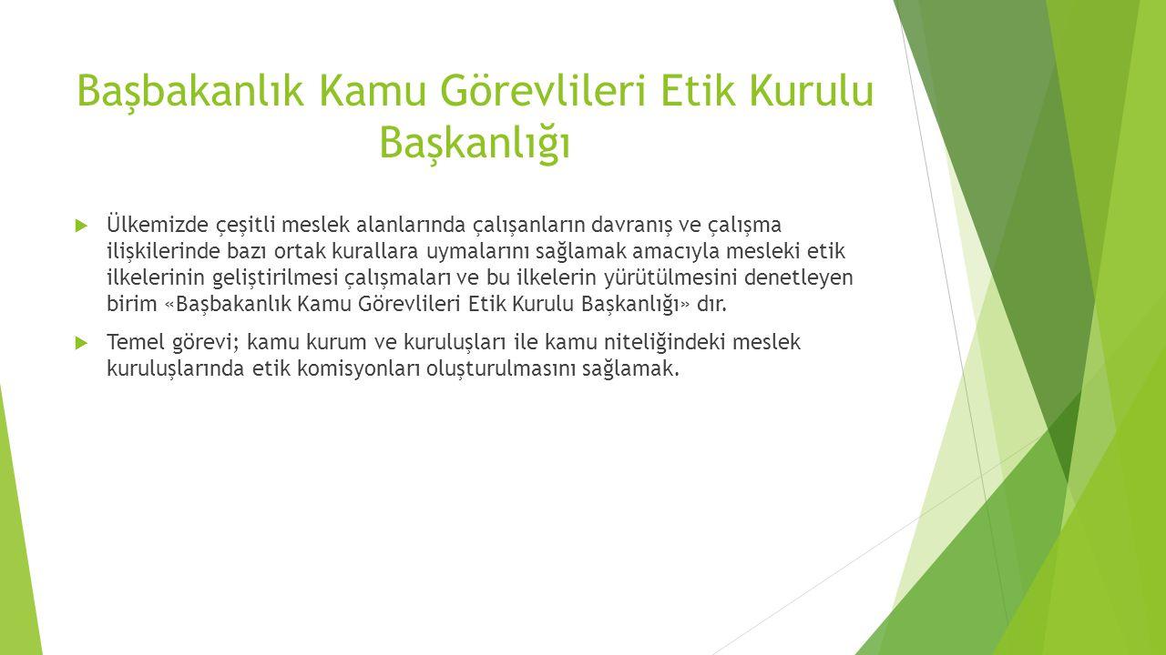 Başbakanlık Kamu Görevlileri Etik Kurulu Başkanlığı