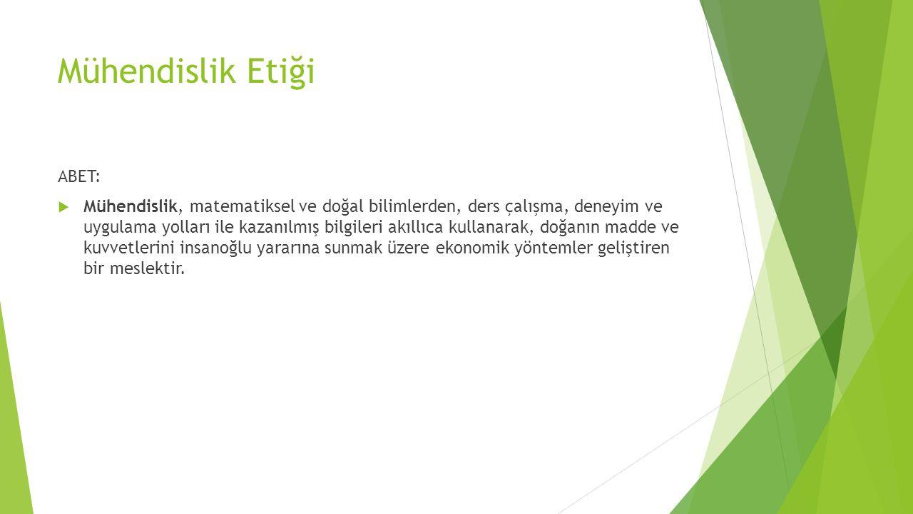 Mühendislik Etiği ABET: