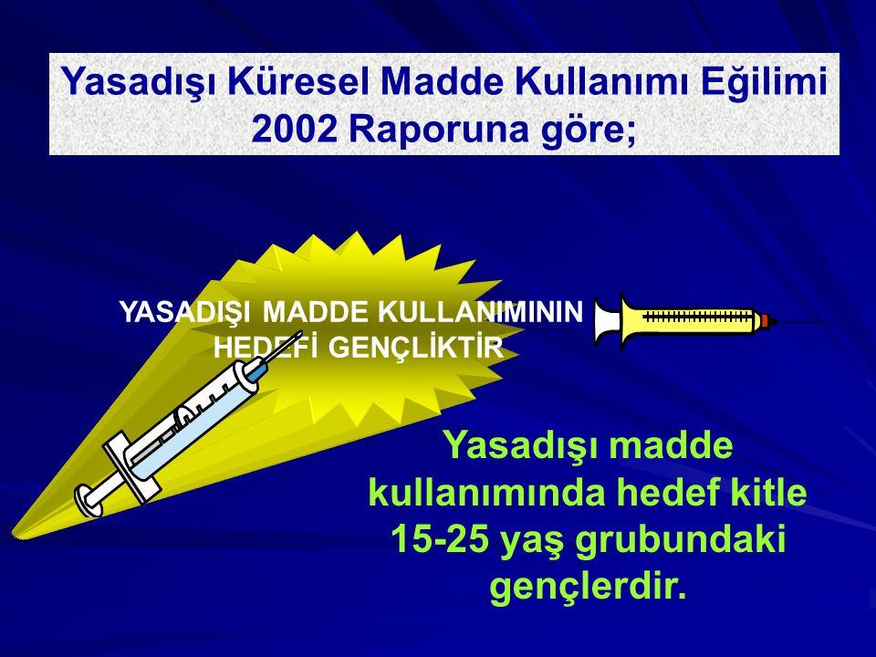 Yasadışı Küresel Madde Kullanımı Eğilimi 2002 Raporuna göre;