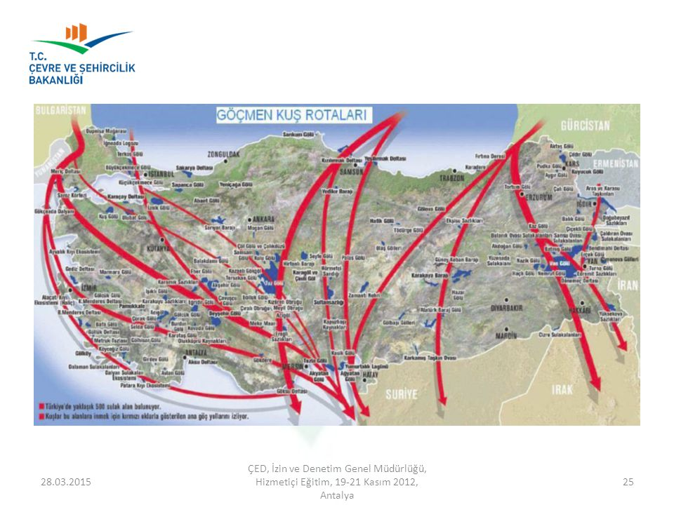 08.04.2017 ÇED, İzin ve Denetim Genel Müdürlüğü, Hizmetiçi Eğitim, 19-21 Kasım 2012, Antalya.