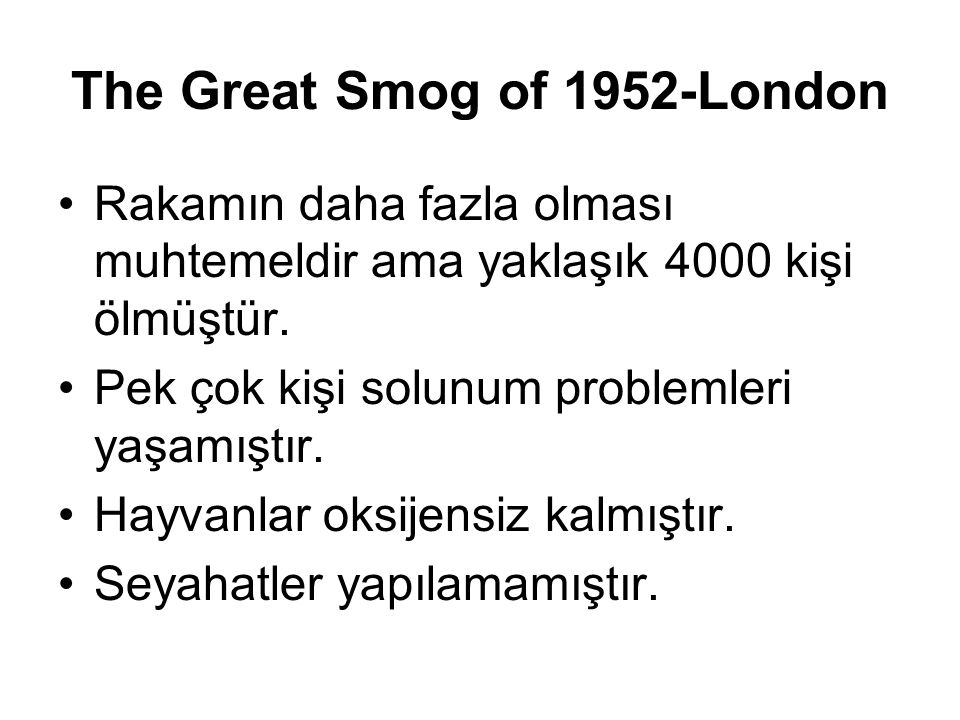 The Great Smog of 1952-London