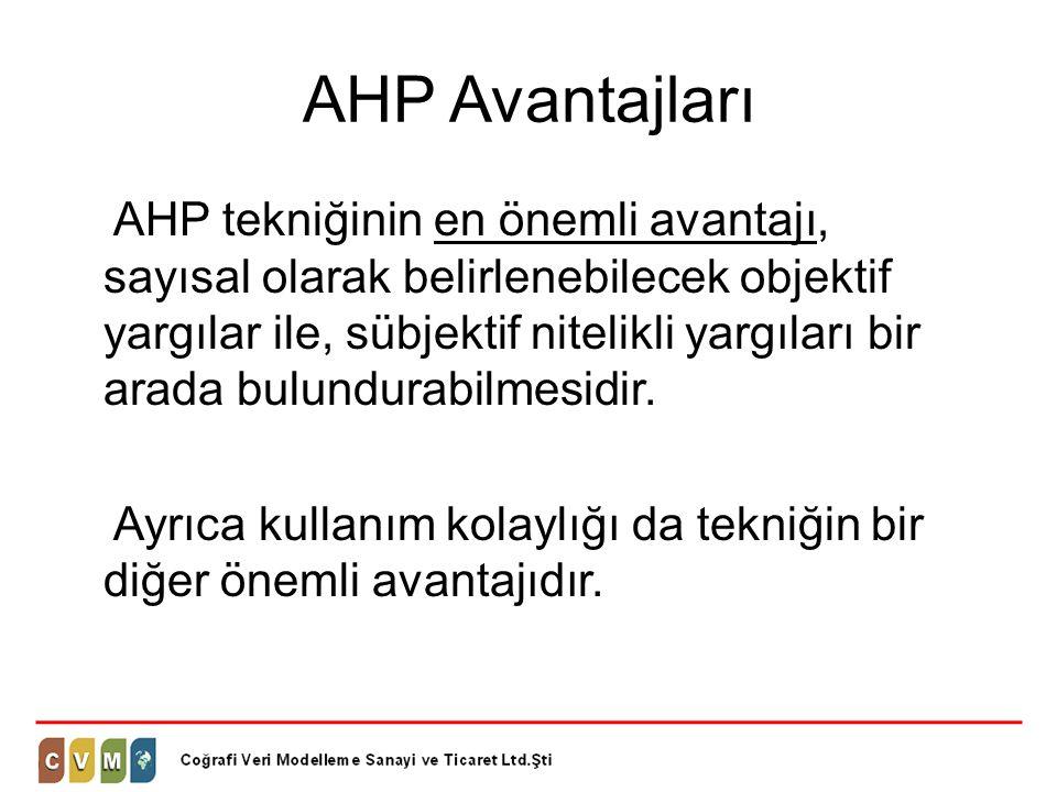AHP Avantajları