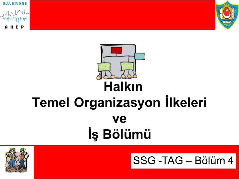 Halkın Temel Organizasyon İlkeleri ve İş Bölümü