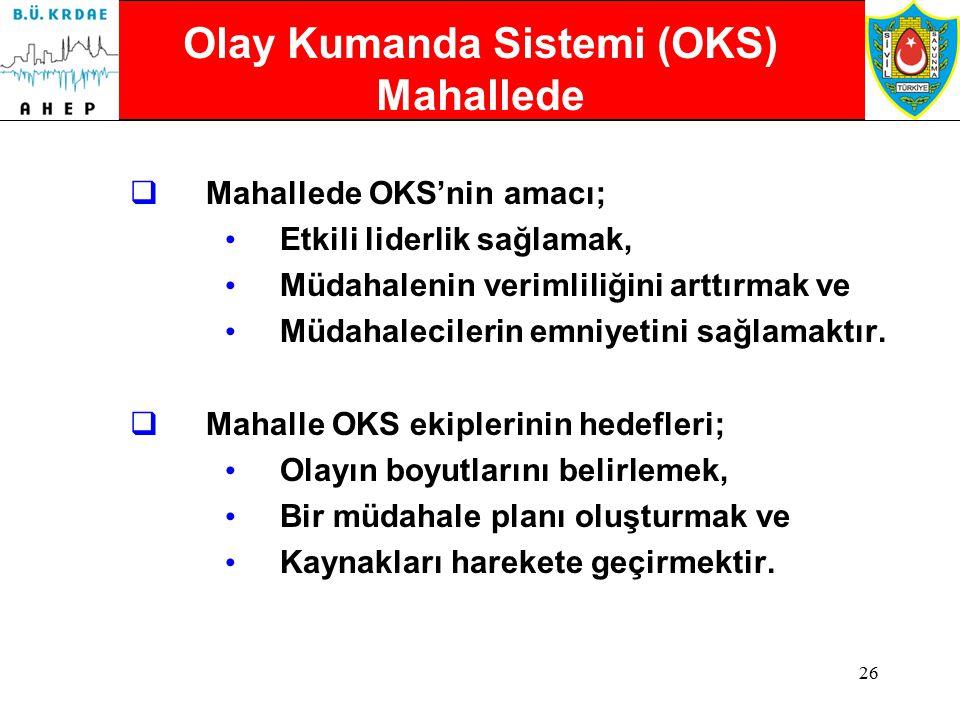 Olay Kumanda Sistemi (OKS) Mahallede