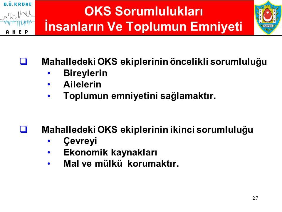 OKS Sorumlulukları İnsanların Ve Toplumun Emniyeti