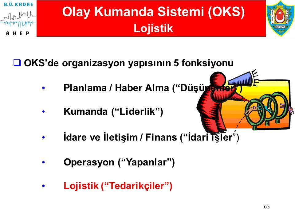 Olay Kumanda Sistemi (OKS) Lojistik