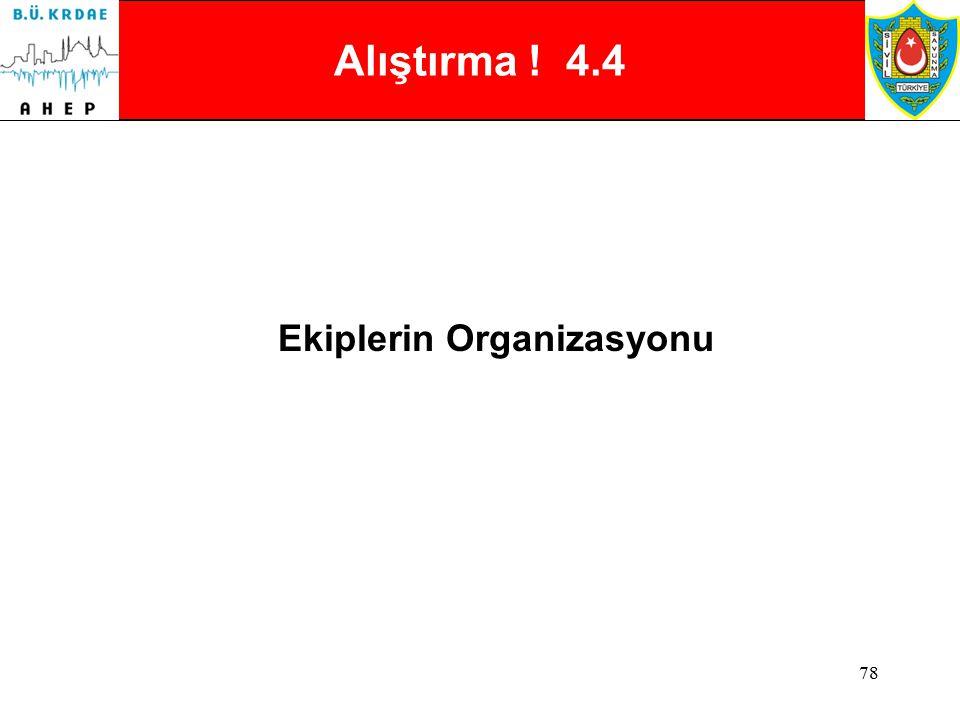 Ekiplerin Organizasyonu
