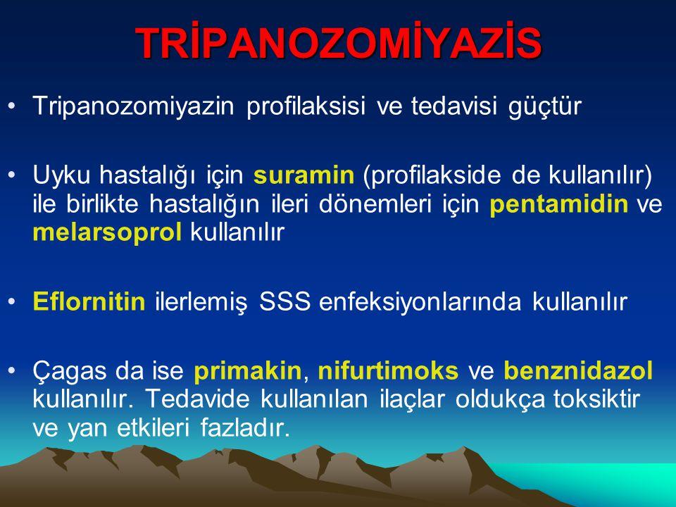 TRİPANOZOMİYAZİS Tripanozomiyazin profilaksisi ve tedavisi güçtür
