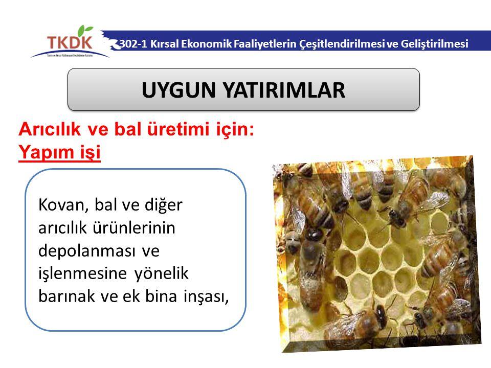 UYGUN YATIRIMLAR Arıcılık ve bal üretimi için: Yapım işi