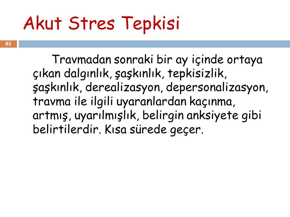 Akut Stres Tepkisi