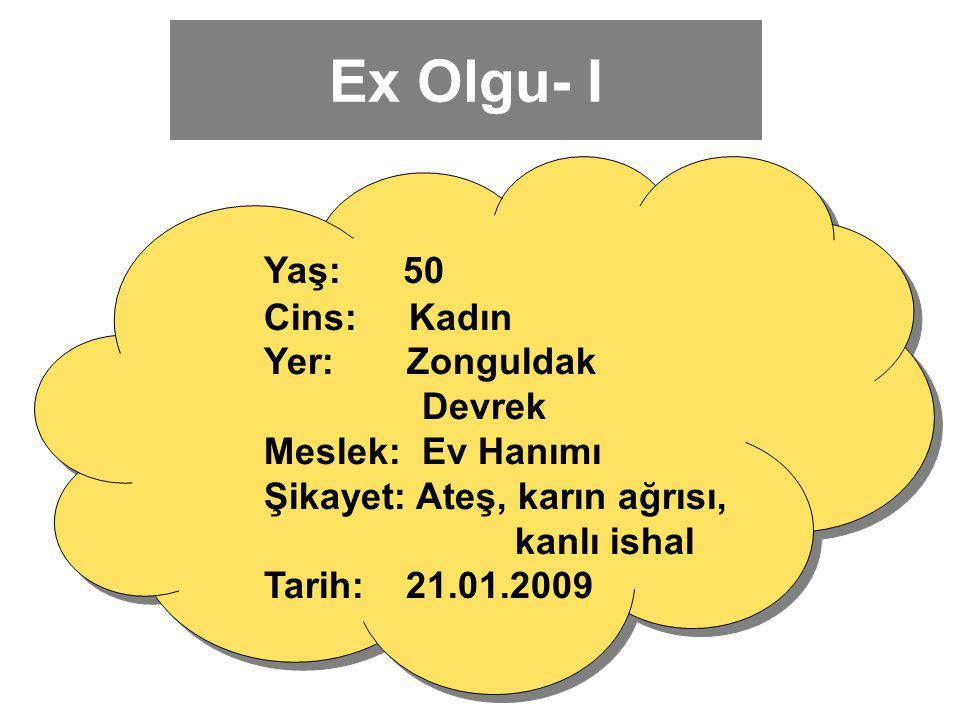 Ex Olgu- I Yaş: 50 Cins: Kadın Yer: Zonguldak Devrek Meslek: Ev Hanımı
