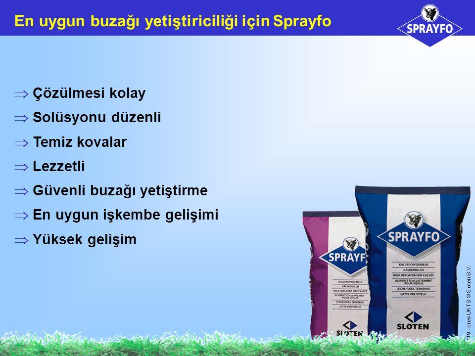 En uygun buzağı yetiştiriciliği için Sprayfo