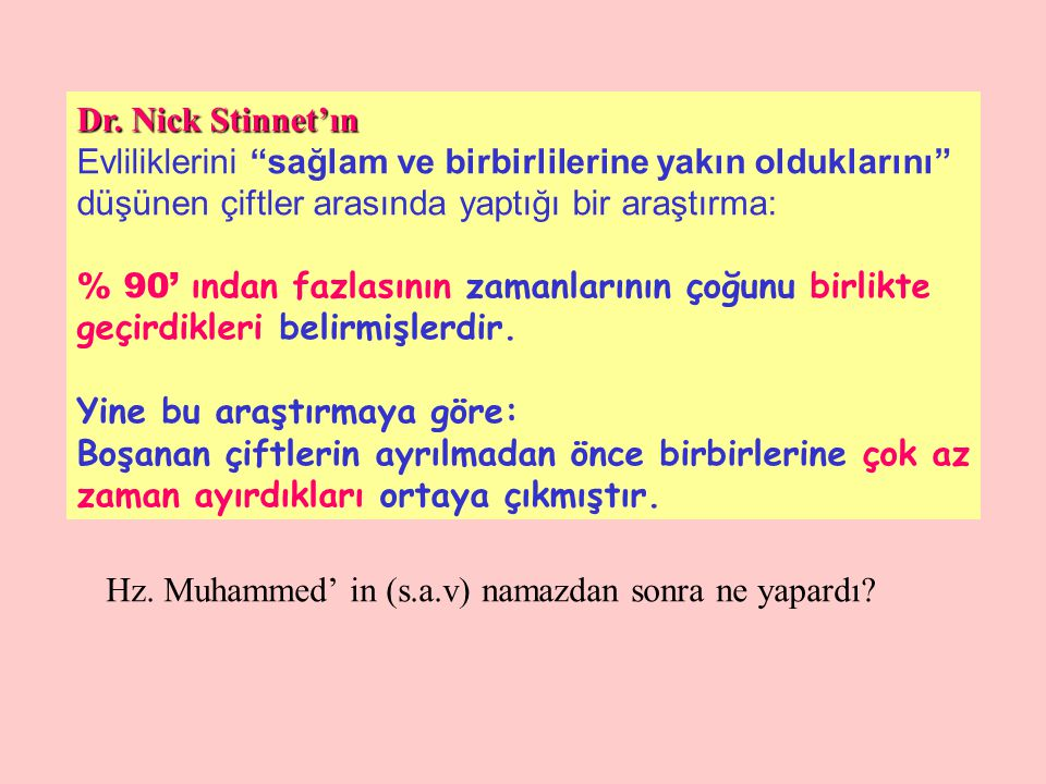 Hz. Muhammed' in (s.a.v) namazdan sonra ne yapardı