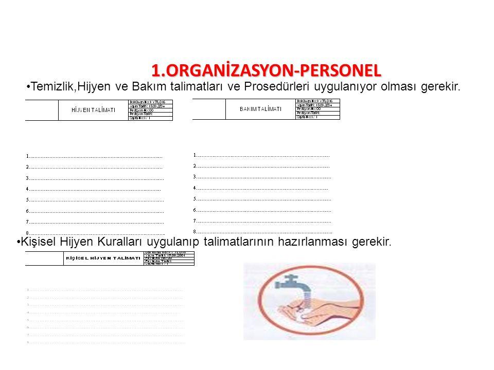 1.ORGANİZASYON-PERSONEL