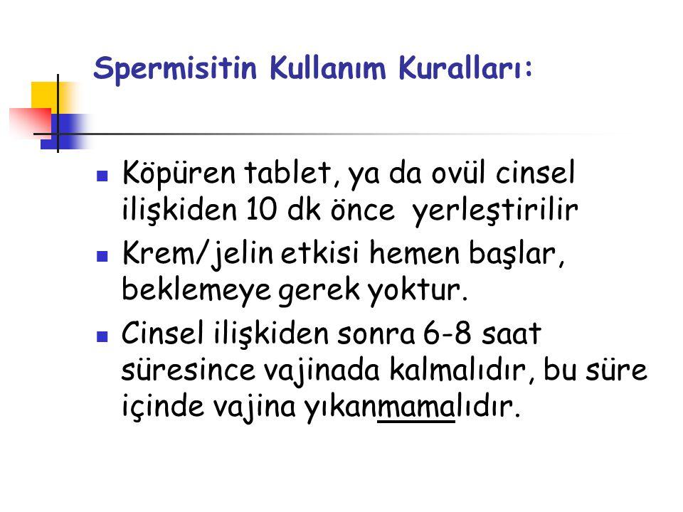 Spermisitin Kullanım Kuralları:
