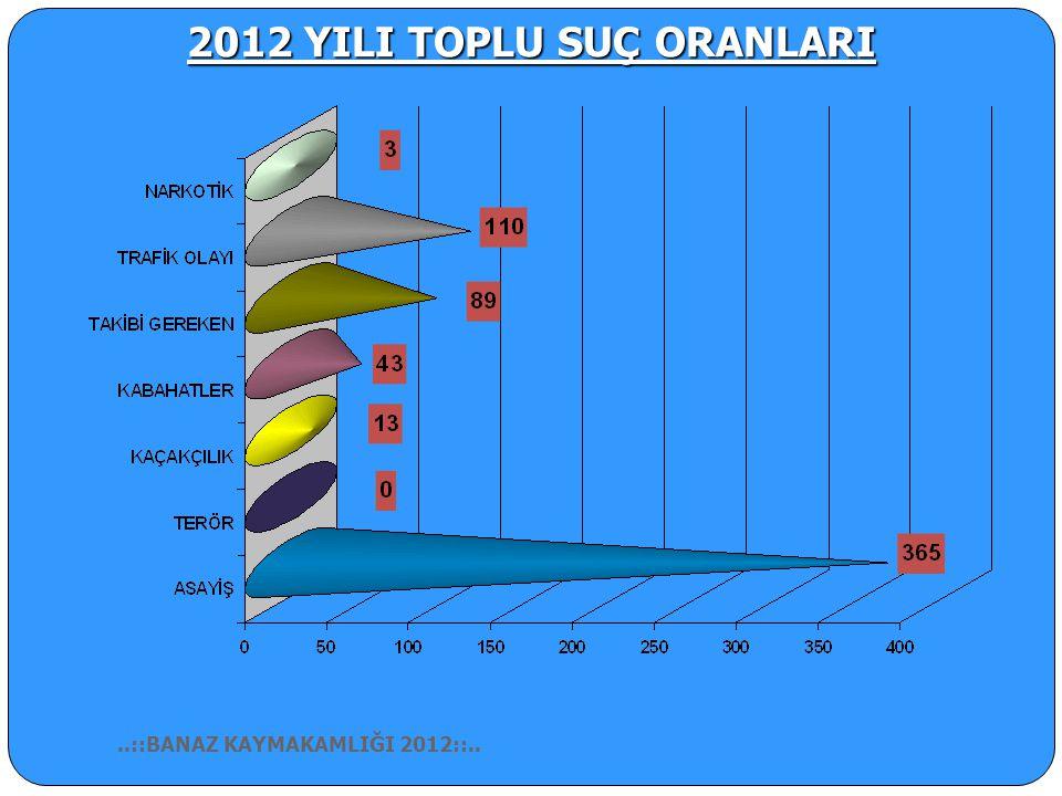 2012 YILI TOPLU SUÇ ORANLARI