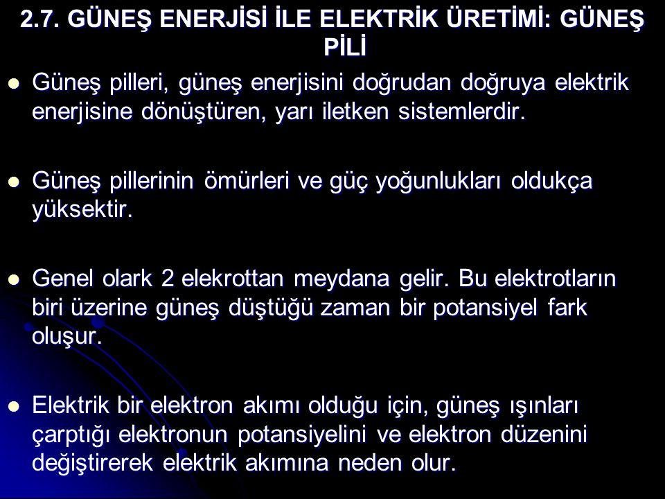 2.7. GÜNEŞ ENERJİSİ İLE ELEKTRİK ÜRETİMİ: GÜNEŞ PİLİ