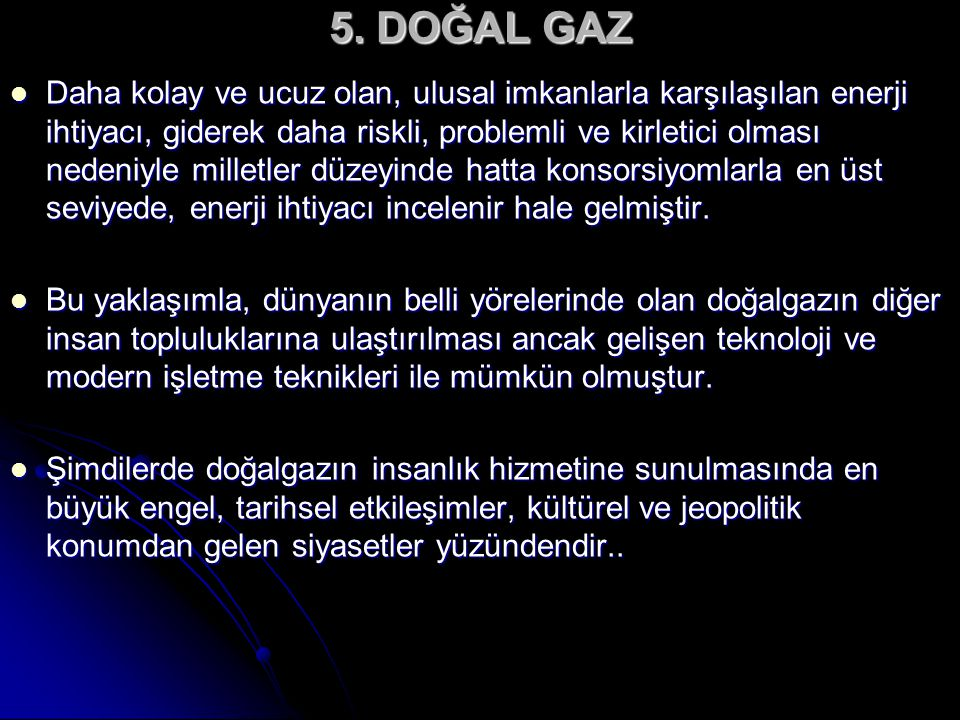 5. DOĞAL GAZ