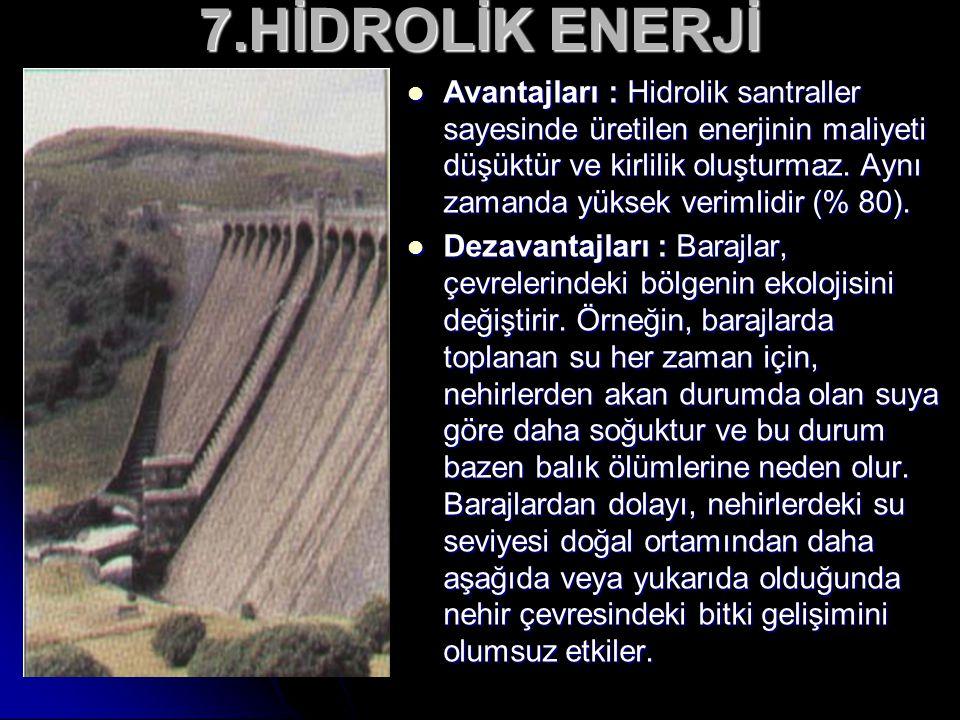 7.HİDROLİK ENERJİ