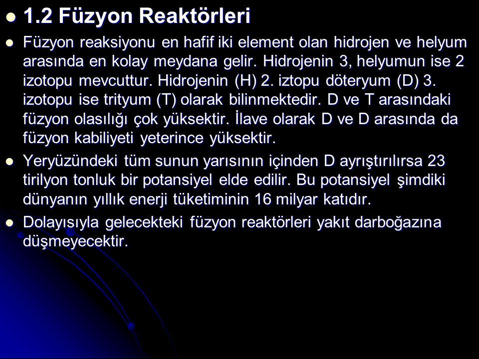1.2 Füzyon Reaktörleri