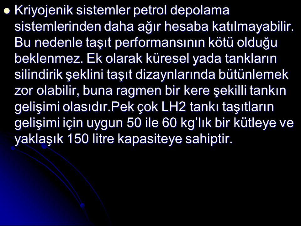 Kriyojenik sistemler petrol depolama sistemlerinden daha ağır hesaba katılmayabilir.