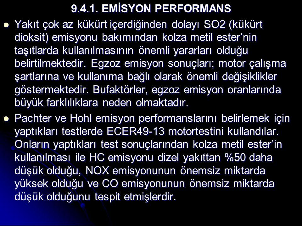 9.4.1. EMİSYON PERFORMANS